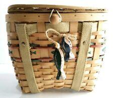 Woven Wicker Fisherman's Basket w/ Fish Strap!
