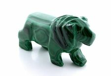 3 Inch African Congo Natural Malachite Carved Lion Carving EBS7839