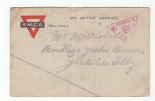 Great Britain censored 1915 YMCA Active Service postcard