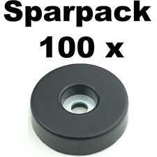 100 Gummifüße 38x10 stahlverstärkt Adam Hall 4906 Gummifuß Geräte Gehäuse Füße