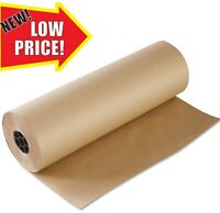 600m x 25m STRONG BROWN  KRAFT WRAPING PARCEL PAPER ROLL 88GSM