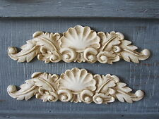 TWO BEAUTIFULL  DECORATIVE  SCULPTER  SCROLL  FURNITURE/ MIRROR MOULDING