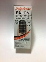 SALLY HANSEN SALON EFFECTS REAL NAIL POLISH STRIPS ( #550 TWEED LE DEE ) NEW.