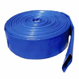 """Good Quality Lay Flat Hose for Water Pumps, 2"""" 50mm, Per 5 m Length + Clip"""