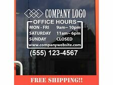 """11""""Wx8.5""""H Business Store Hours Sign Window Shop Open Close Sticker Decal Ver16"""