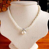 Multi-layer Charm Chain Pendant Pearl Choker Necklace Women Fashion Jewelry