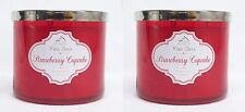 2 Bath & Body Works Strawberry Cupcake 3-Wick Filled Candle 14.5