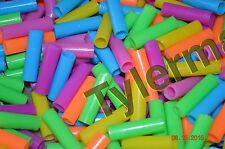 50 BRIGHT COLORFUL JUMBO STRAW TUBE BEADS BIRD PARROT TOY PARTS CRAFTS