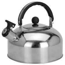 45381 Camping Edelstahl Flötenkessel 2 Liter Kessel Wasserkocher Teekessel
