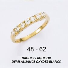 Dolly-Bijoux Alliance Eternity Rail de Diamant Cz 2 mm Plaqué Or 18K 5 Microns