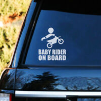 Car Baby Motocross Rider On Board Sign Sticker For Auto Trunk Window Vinyl Decal