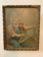 circa 1900 Harding & McCord Lumber Company Print in Gesso Frame