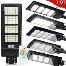 500000Lm Solar Street Light Commercial Ip67 Dusk to Dawn Pir Sensor+Remote+Pole