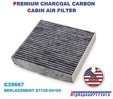C35667 PREMIUM CHARCOAL CARBONIZED CABIN AIR FILTER For LEXUS TOYOTA SCION