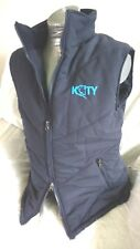 *CLEARANCE* KTY Ladies Padded Fleece Lined Waistcoat/Gilet Navy Large (~ UK14)