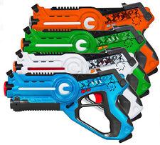 Laser Tag Gun Kids Toy Blaster Multiplayer Game Set 4 Pack Great Childrens Gift