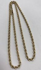 """Solid 14k Yellow Gold 3mm Rope Chain 16"""" Necklace 9.2 Grams"""