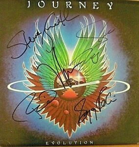 "SIGNED ALBUM LP 'JOURNEY' ""EVOLUTION"" STEVE PERRY + 4 ""LOVIN TOUCHIN""-CERTIFIED"
