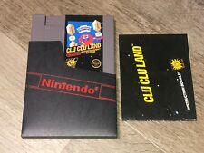 Clu Clu Land w/Manual & Sleeve Nintendo Nes Authentic