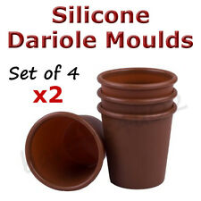 Silicone Dariole Moulds, 8 Pack, Non-Stick Individual Bakeware Panacotta Pudding