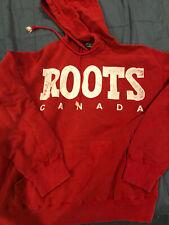 Roots Canada Red Hoodie SweatshirtMen's Large EUC