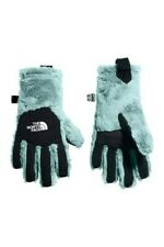 New Girls NORTH FACE Windmill Blue Osito Faux Fur Gloves Size S