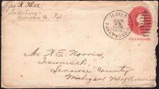 PHILIPPINES, 1904. Cover U8. Iloilo - Tecumseh, Mi