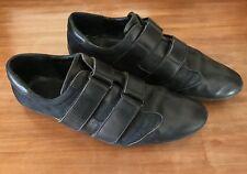 Scarpe uomo GUCCI nere sneakers strappi velcro 43 sneakers leather fabric