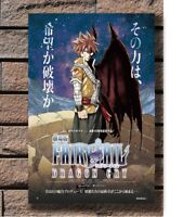 Fairy Tail Dragon Cry 2017 Anime Promo Double Poster Fabric 20x30 24x36 E-2313