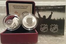 Hockey Montreal Canadiens $10 2015 1/2OZ Pure Silver Proof Coin Canada NHL