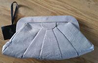 NEW LOOK Beige Cream Textured Clutch Evening Fauv Snakeskin Handbag BNWT