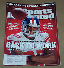 AUGUST 4 2008 DAVID TYREE  NFL TRAINING CAMP SPORTS ILLUSTRATED MAGAZINE VG