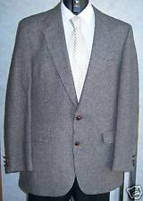 Stafford wool tweed two button sport coat jacket gray 40 long