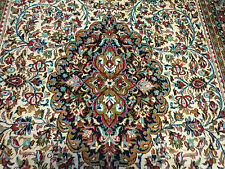 "Beautiful pure silk Qum oriental rug (  5ft.1"" x 3ft.6"" )"