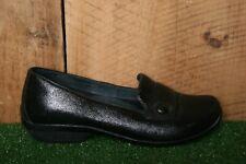 DANSKO 'Olena' Black Metallic Leather Flats Slip On Loafers EUR 37 | US 6.5-7