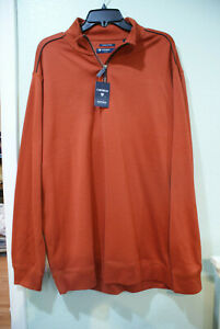 Men Daniel Cremieux Red/Orange 1/4 QTR Zip Up PulloverSweatshirt/shirt/Jacket-XL