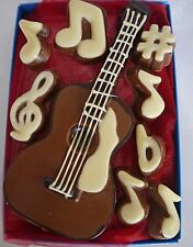 Hand-made Belgian Chocolate Acoustic Guitar & Musical Notes
