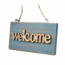Welcome Sign Vintage Plaque Home Room Hotel Hanging Wall Decor