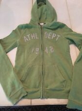 Womens Hoodie Jacket XS Abercrombie & Fitch Green Coat Green Extra Small Used AF
