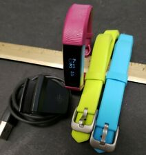 Fitbit ALTA HR Wristband Activity Tracker FB408 Fuchsia Sz Small Spare is Large