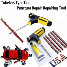 Car Tubeless Tyre Tire Puncture Repair Plug Emergency Kit Needle Patch Fix Tool!