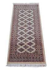 Handmade 5 foot Beige Rug farmhouse kitchen rug runner 145 x 74 cm Silk touch
