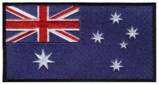2 pcs AUSTRALIAN Flag Embroidered Iron on Patches - AUSTRALIA AU