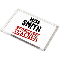 JUMBO MAGNET - Miss/Mr/Mrs - Number One Teacher - Personalised School Gift