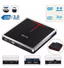 External CD DVD Drive 5 in 1 USB 3.0/C Player Reader Burner SD TF Card Reader RW