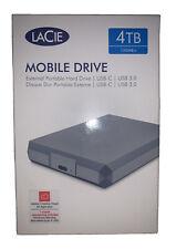 LaCie Mobile External Hard Drive USB-C USB 3.0 Thunderbolt 3 4TB STHG4000400