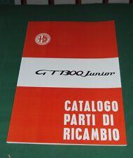 Manuale Catalogo parti di ricambio CARROZZERIA Alfa Romeo GT 1300 Junior 1965-72