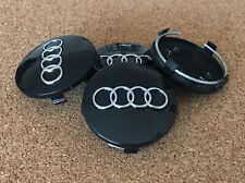 4 Felgendeckel Nabenkappen Nabendeckel AUDI 60 mm schwarz