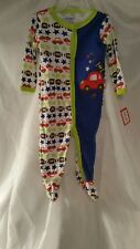 Kidgets Baby Pajamas PJs Foot Ball Cars New NWT Feet Clothes 6 to 9 MO Infant