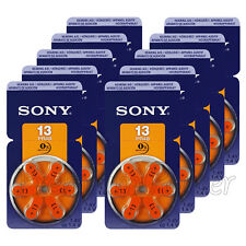 60 x SONY Hearing aid 13 Size batteries Zinc Air PR48 1.4V Mercury free 10 Packs
